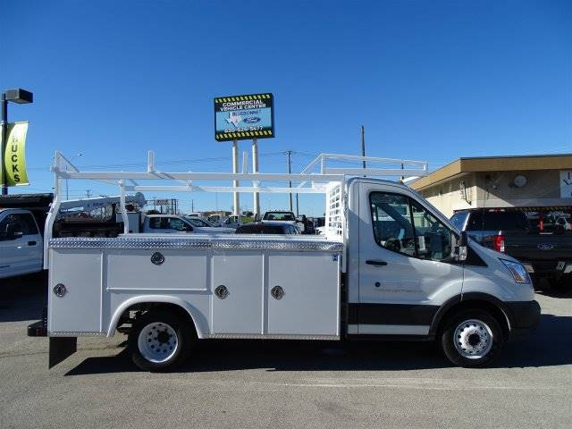 2018 Ford Transit Chassis Service Body with Ladder Rack
